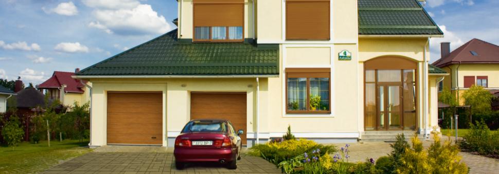 Ворота гаражные Alutech станут прекрасной защитой для вашего гаража и оригинальным элементом общего фасада.