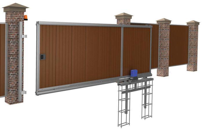 Привод для откатных ворот консольной конструкции